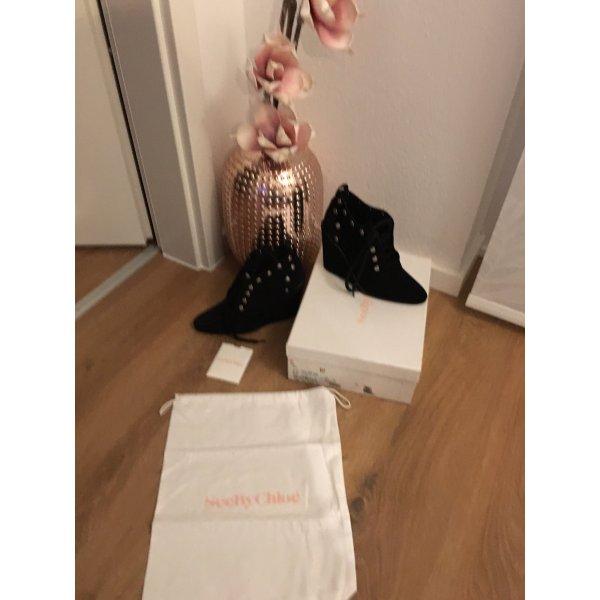 Boots See by Chloé 39 Leder schwarz 39 neu Etikett Originalkarton Stiefeletten