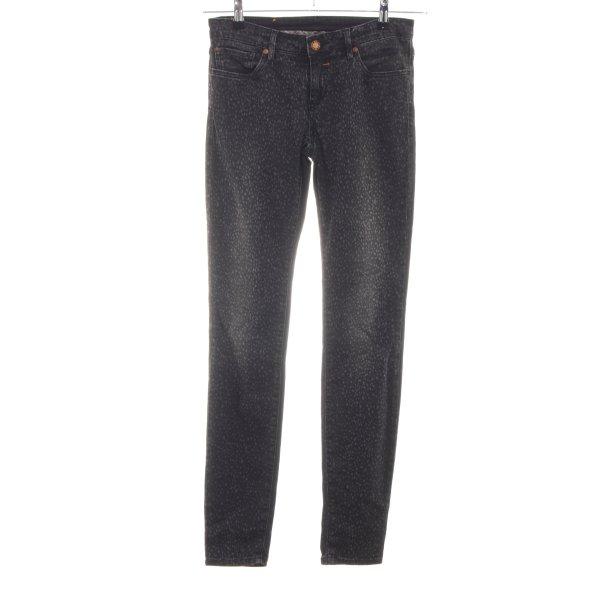 Boss Orange Slim Jeans schwarz abstraktes Muster Casual-Look