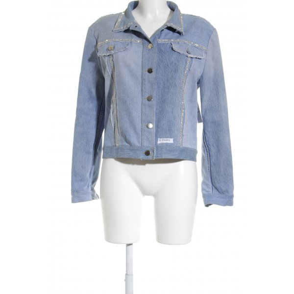 Bottega Jeansjacke blassblau Street-Fashion-Look