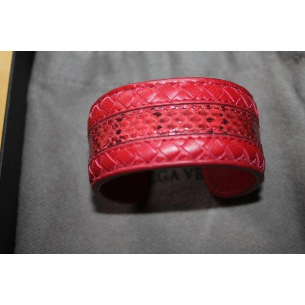 Bottega Veneta Armreif aus rotem Leder