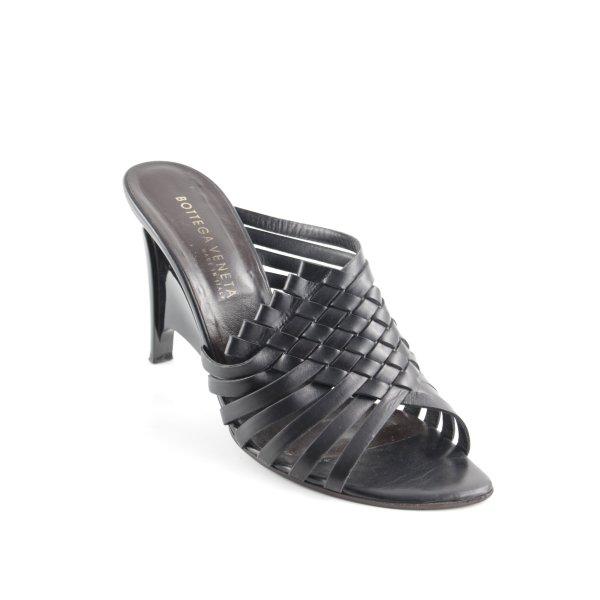 Bottega Veneta Riemchen-Sandaletten schwarz Elegant