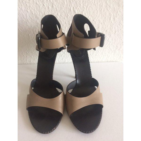 Bottega Veneta High Heel Sandal beige leather