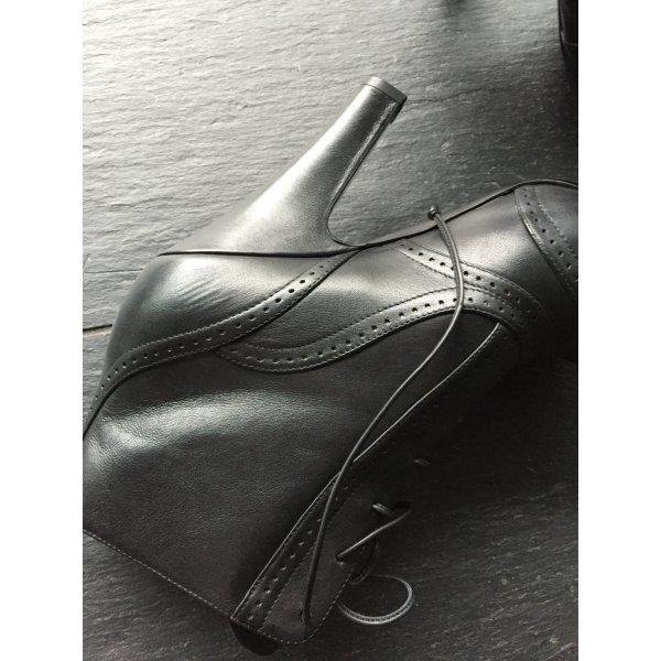 Bottega Veneta Schnürschuhe - schwarz, Größe 38,5, einmal getragen