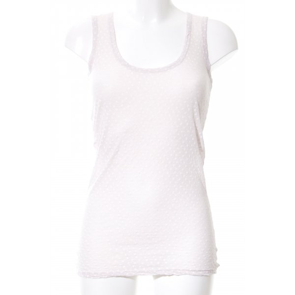 Braez Basic Top creme Allover-Druck Casual-Look