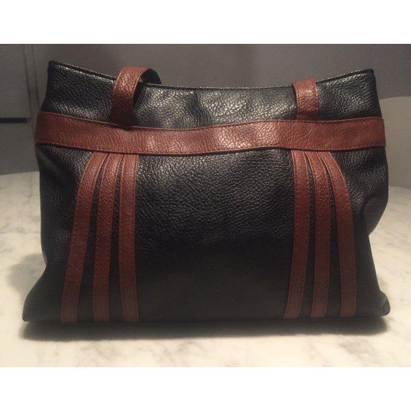 Braun-Schwarze Handtasche
