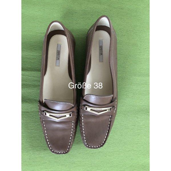 Braune Mokassins/Loafer von Geox