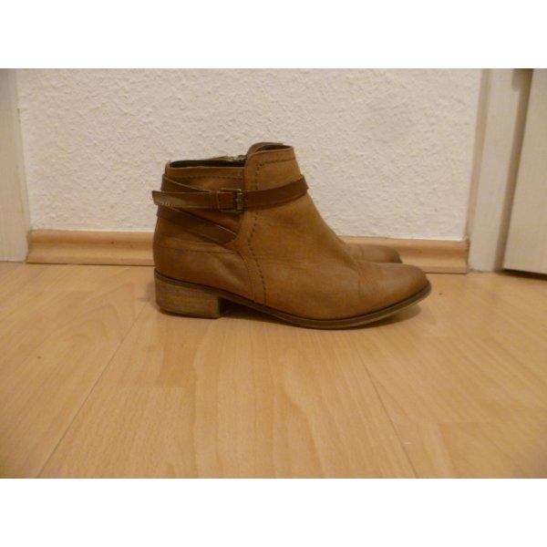 Braune Stiefeletten, 5th Avenue, echtes Leder, Ankle Boots Winter,Herbst,Blogger