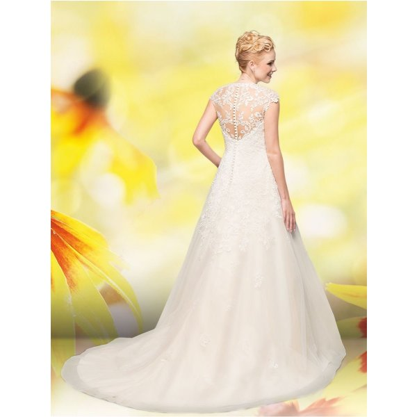 Brautkleid Estelle, reinweiß