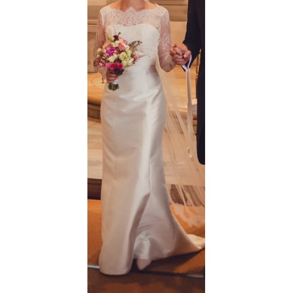 Brautkleid Seide und Spitze