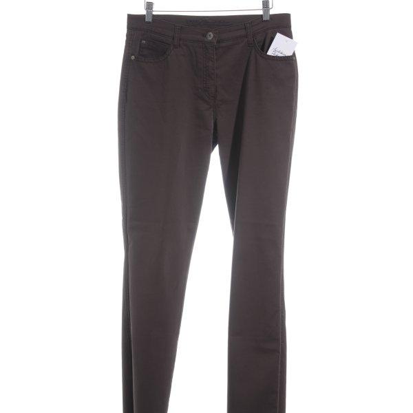 Brax Slim Jeans dunkelbraun Casual-Look