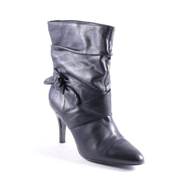 Bronx Schlüpf-Stiefeletten schwarz Elegant