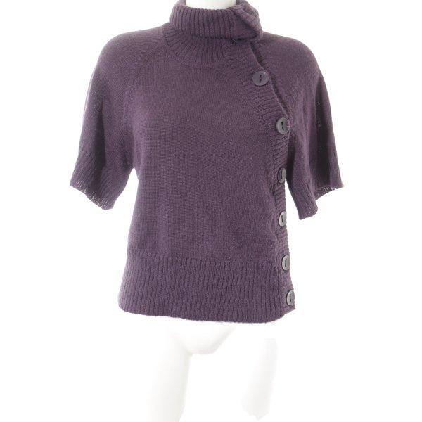 Bruuns bazaar Cardigan dunkelviolett Webmuster schlichter Stil