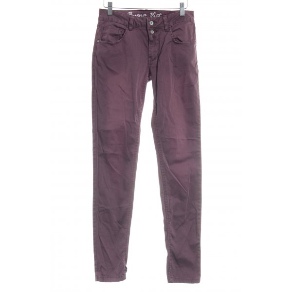 Buena Vista Karottenhose bordeauxrot Casual-Look