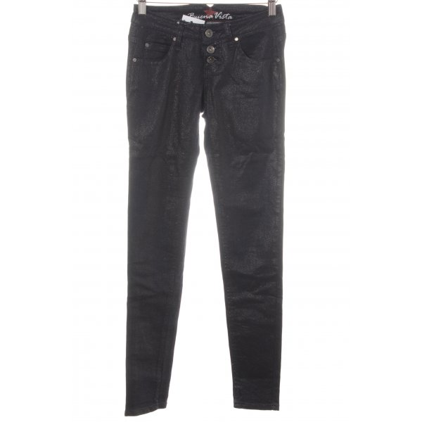 Buena Vista Skinny Jeans dunkelblau Leomuster Street-Fashion-Look