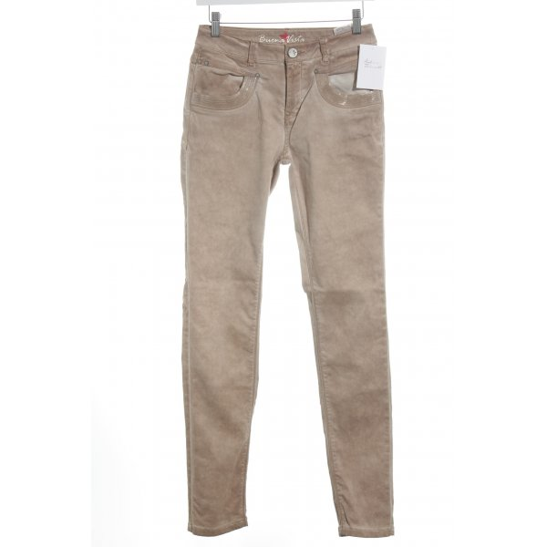 Buena Vista Skinny Jeans rostrot-apricot Casual-Look