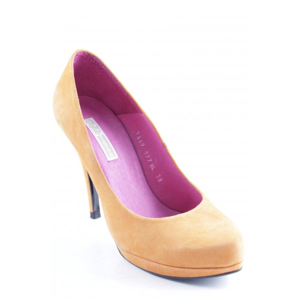 Buffalo Plateau-Pumps orange schlichter Stil