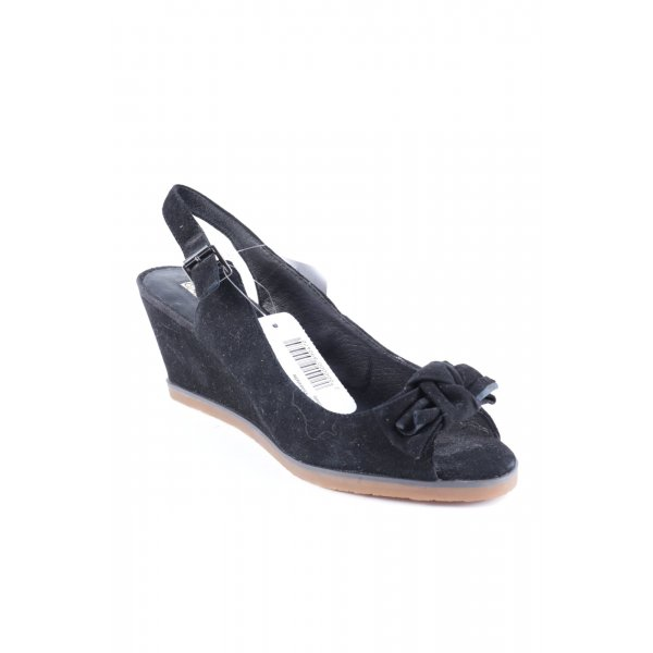 Buffalo Wedges Sandaletten schwarz klassischer Stil
