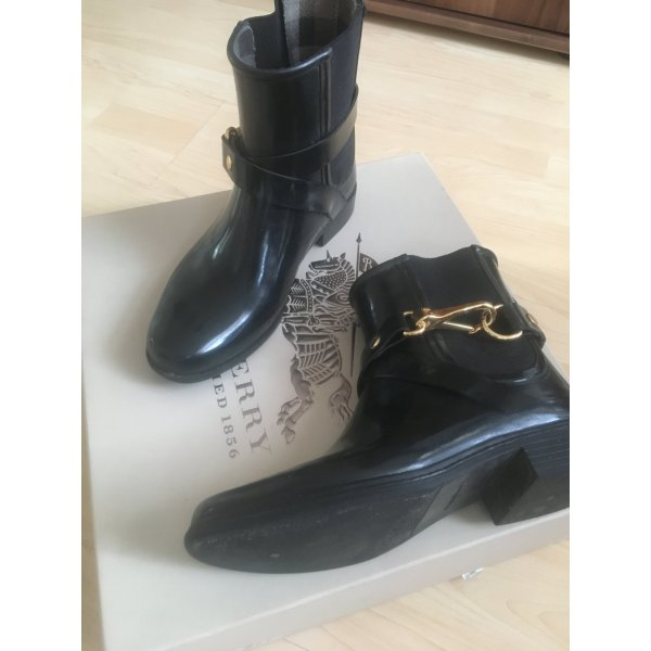 Burberry Chelsea Boots black-gold-colored