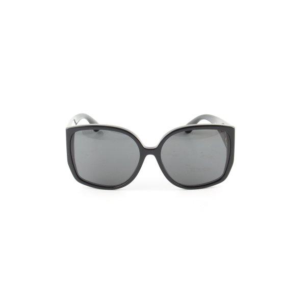 Burberry eckige Sonnenbrille schwarz Business-Look