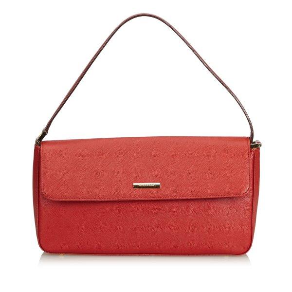 Burberry Handbag red leather