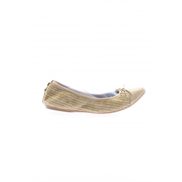Butterfly twists faltbare Ballerinas creme Casual-Look