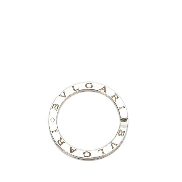 Bvlgari Logo Silver Key Ring