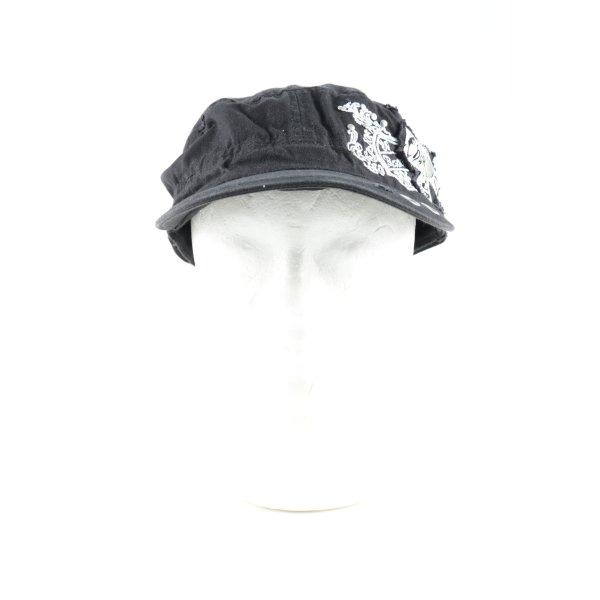 C&A Baseball Cap black-white themed print casual look