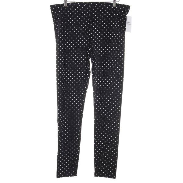 C&A Leggings schwarz-weiß Punktemuster Street-Fashion-Look