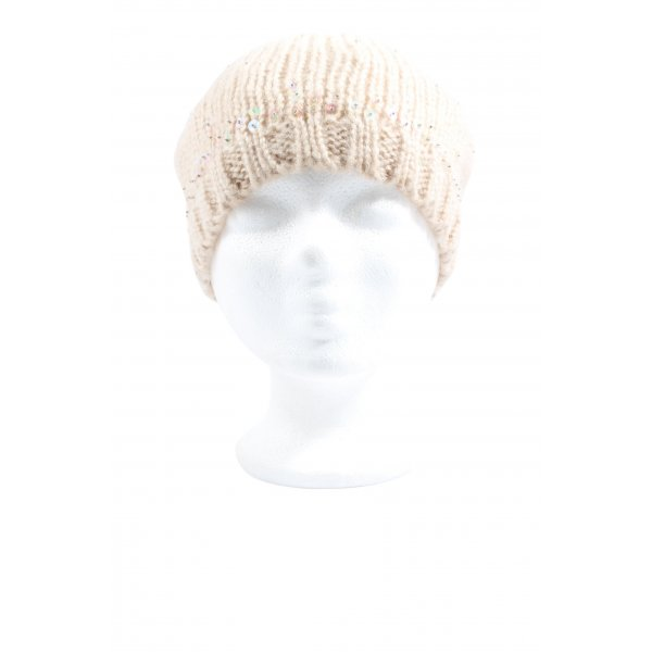 C&A Knitted Hat cream cable stitch casual look