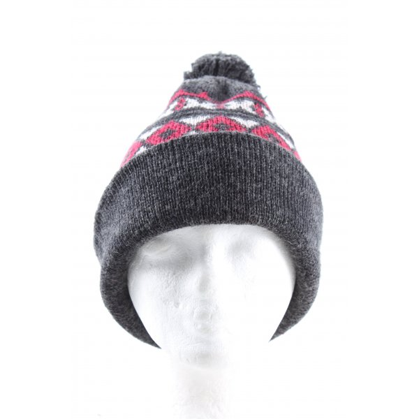 C&A Knitted Hat graphic pattern bobble elements
