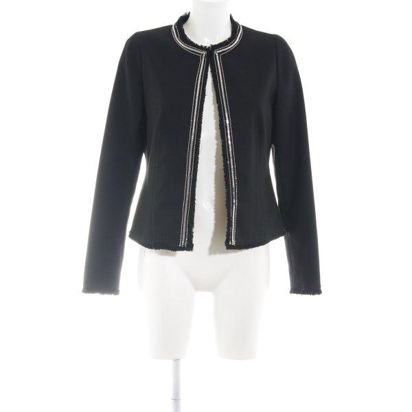 C&A Übergangsjacke schwarz-silberfarben Business-Look