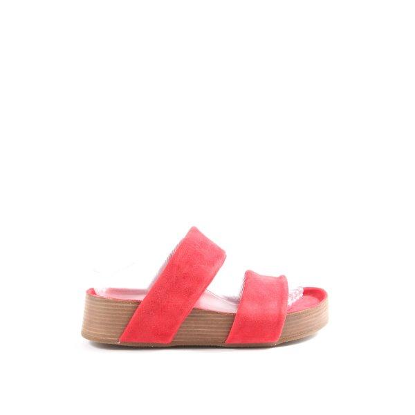 Ca Shott Komfort-Sandalen rot-braun Casual-Look