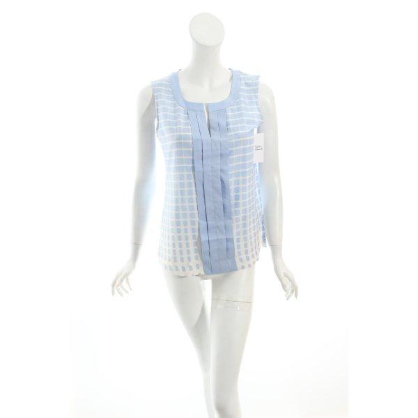 Calvin Klein Blusa azzurro-bianco motivo astratto stile casual