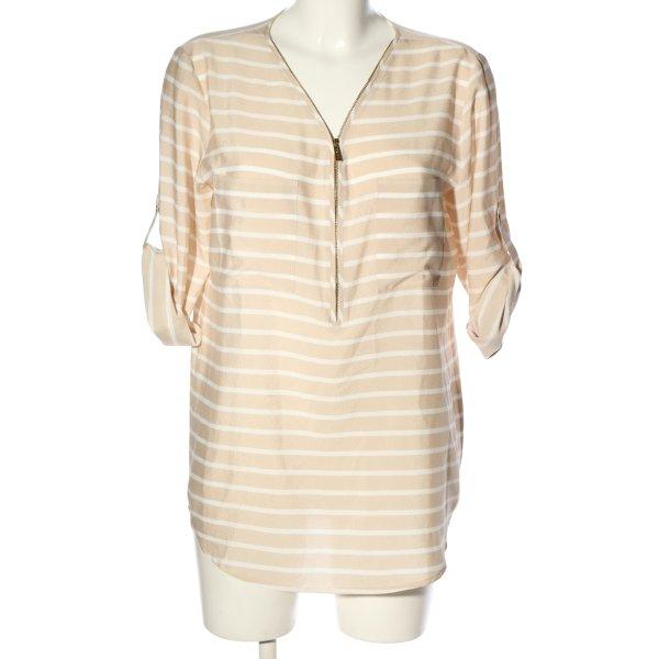 Calvin Klein Hemd-Bluse creme-weiß Allover-Druck klassischer Stil