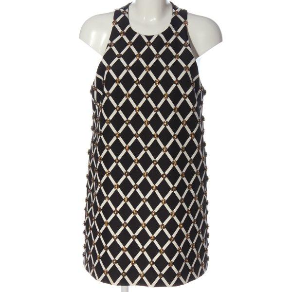 Cameo Sheath Dress black-white graphic pattern elegant