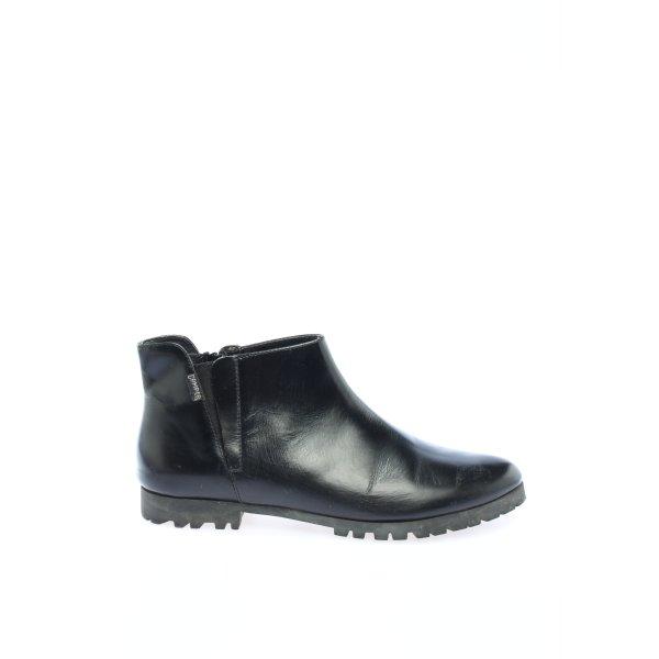 Camper Chelsea Boots schwarz Schriftzug gedruckt Casual-Look