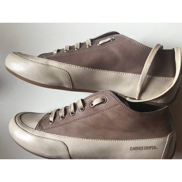 Candice Cooper Sneakers Leder Gr. 41 Creme Braun Neu NP 219€