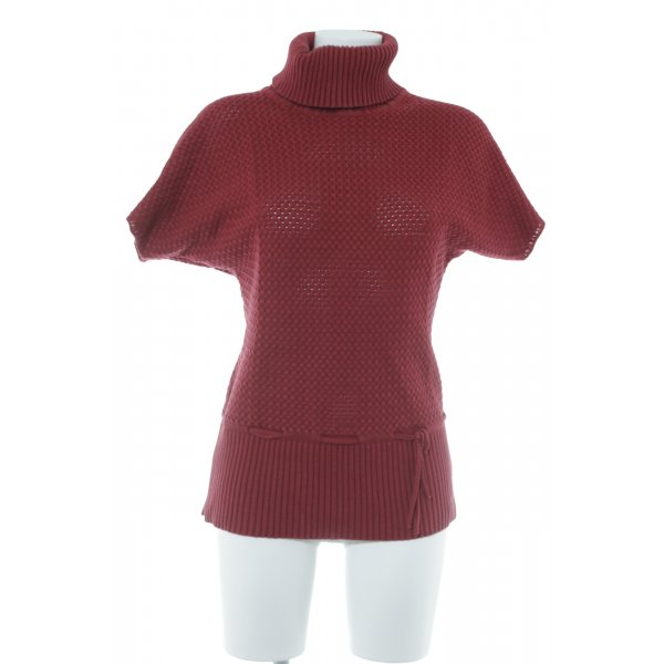 Capuccino Grobstrickpullover dunkelrot Casual-Look