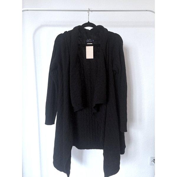 Cardigan RALPH LAUREN strick schwarz oversize winter cozy strickjacke NEU