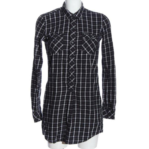 Carhartt Hemd-Bluse schwarz-weiß Allover-Druck Casual-Look