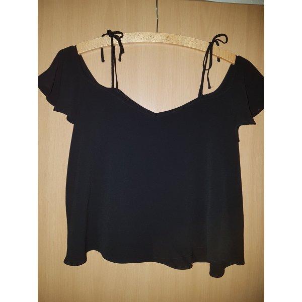Carmen-Bluse mit Binde-Bändchen Gr. 36 kurze Form