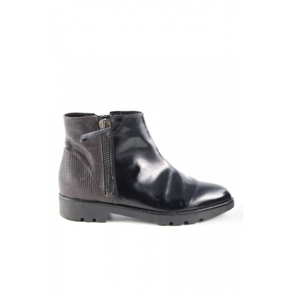 Carmens Ankle Boots schwarz-braun Casual-Look