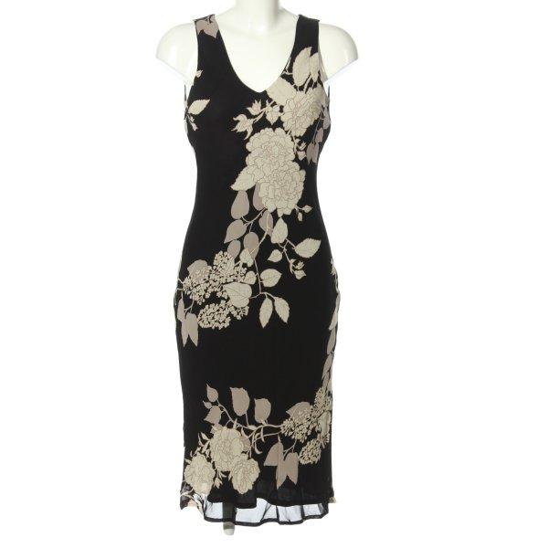 Caroll Blusenkleid schwarz-creme Blumenmuster Elegant