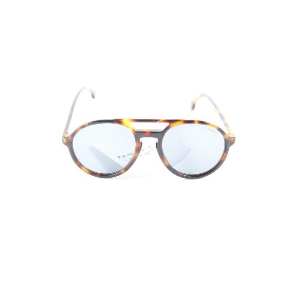 Carrera runde Sonnenbrille hellbraun-braun Leomuster Casual-Look