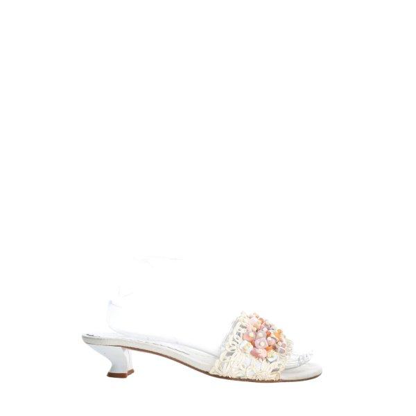 Carrière Riemchen-Sandaletten weiß Casual-Look
