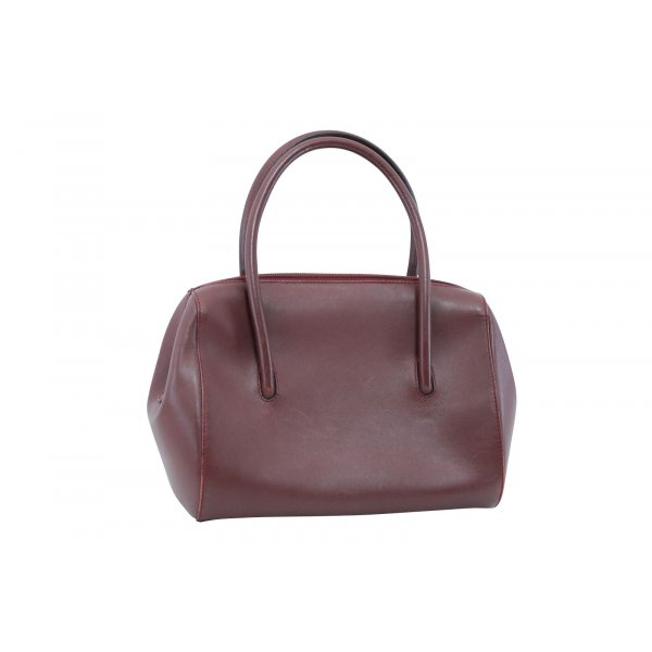 Cartier Handbag bordeaux leather