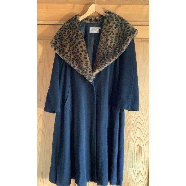 Cashmere-Mantel mit großem Schalkragen