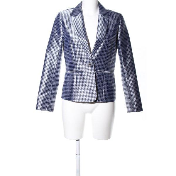CC Double O Long-Blazer blau Allover-Druck Business-Look