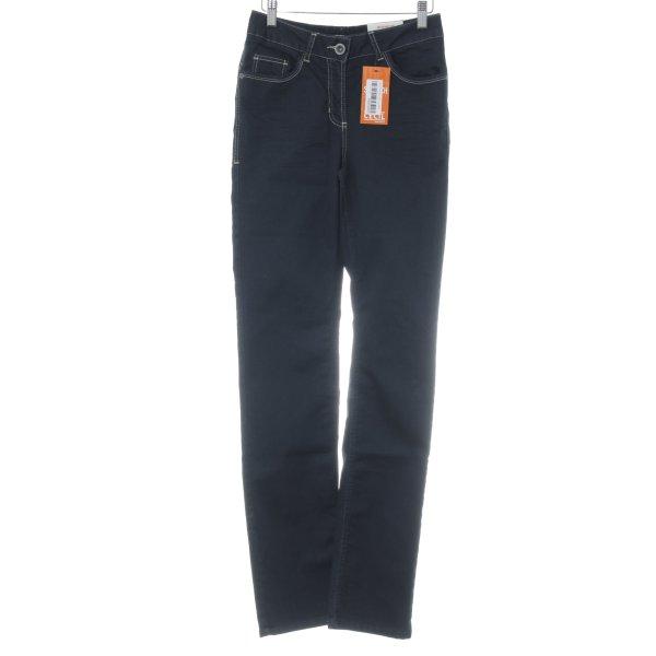 "Cecil High Waist Jeans ""Stretch"" dunkelblau"
