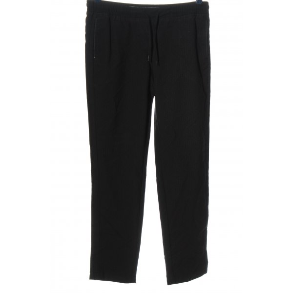 Cecil Stoffhose schwarz abstraktes Muster Casual-Look
